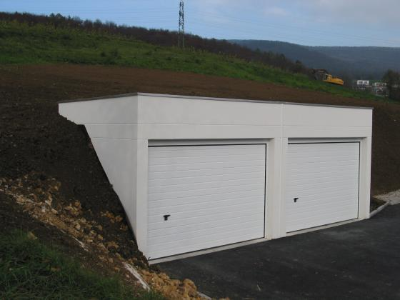 Construction d 39 un garage semi enterr construire garage com for Construction garage double