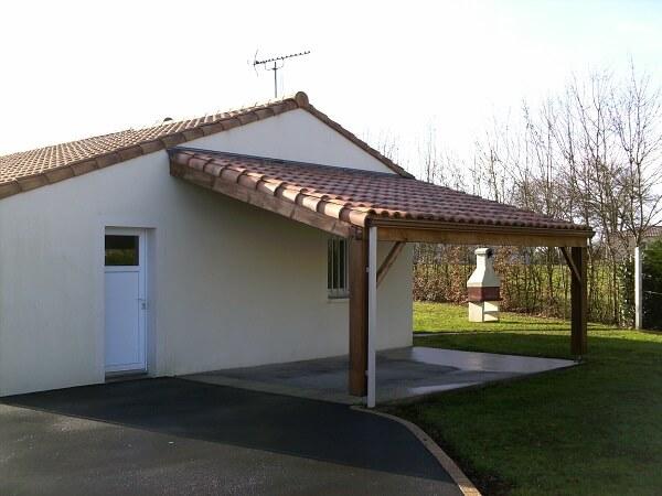 Photos de appentis construire garage com - Tuiles pour toiture maison ...