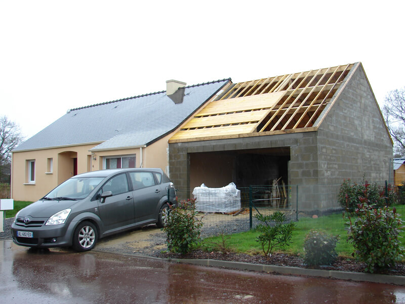 Photos de garages accol s construire garage com - Construction garage prefabrique beton ...