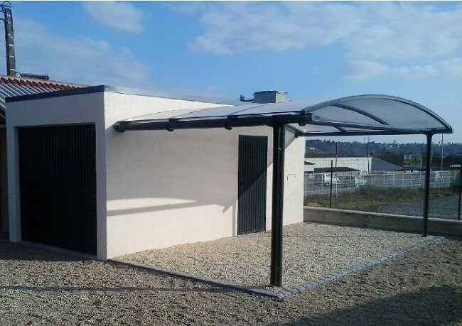 Photos de garages en b ton construire garage com for Construction toit plat beton