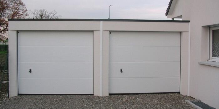 ... Garage Double Deux Portes En Parpaings ...