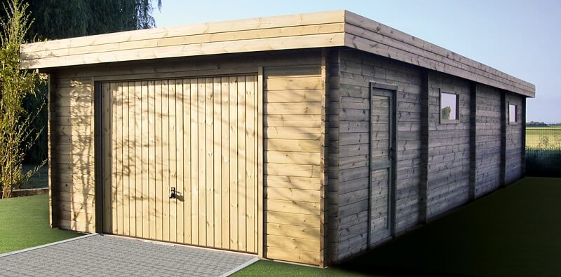 Photos de garages en bois construire garage com for Garage en bois en solde